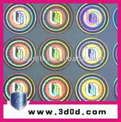 clear security code hologram sticker\anti-fake labels