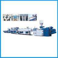 PVC threading pipe production line, construction threading pipe production line