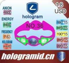 2011 Fashion-anion silicone energy bracelet in hologram