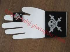 Skull and crossbones pattern | Kito pattern knit | Jacquard wrist | finger guard suit raw and bloody bones