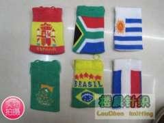 South Africa | Argentina | France | Brazil flag pattern knit cell phone package