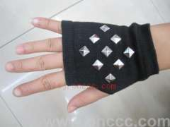 Metal square nails mitts | rivets protect the palm | Gloves