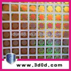 customized logo security hologram labels