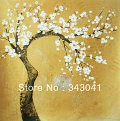 Free shipping, Asian hand-painted wall art, home decoration, canvas painting gold tree x20 20 inches (50 x50cm)