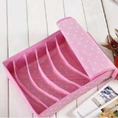 Qige little pink underwear storage box