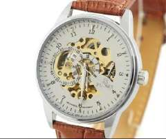 2013 New | Fashion | automatic mechanical watch | the back of the multifunction hollow male table | six-pin