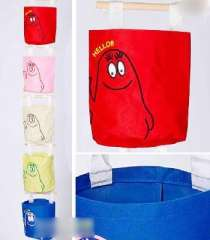 Japanese oxford cloth colorful Storage Bag | Bag | powder blue, green and red rice | Color Random