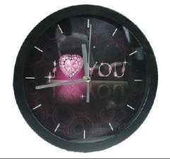 Large round ultra-quiet wall clock / bedroom wall clock - I LOVE YOU