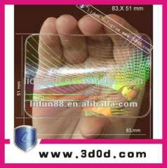 3D laser anti-fake holographic labels