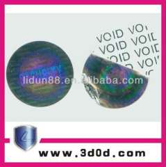 waterproof VOID hologram labels