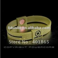 2012 Latest-sale Powercore silicone bracelets in Hologram Eco-friendly and harmless to body