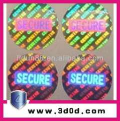 security Holographic sticker\hologram anti-fake label