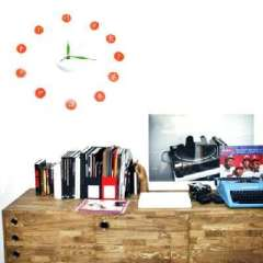 Bai earned DIY stereo magnetic free combination of fun wall clock | Random Color