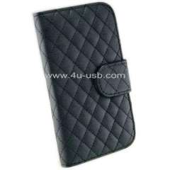Horizontal Flip Leather Case with Credit Card Slots for Samsung Galaxy S4\I9500