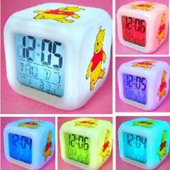 Guangdong production of high-quality cartoon colorful clock / thermometer | Winnie the Pooh