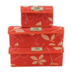 Korean version of the three-piece waterproof oxford cloth storage box - red