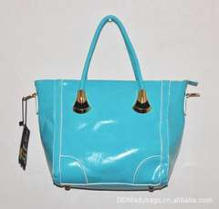 Guangzhou handbags wholesale | 2013 Korean version of the bright new summer handbag | PU with light oil hit color edge