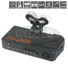 Dual CMOS Cameras Car DVR Real Time Digital Video Recorder With Built-in Microphone