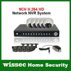 CCTV 9CH H.264 720P Network NVR 9PCS 2.0MP HD Outdoor\Indoor IR IP Network Camera IP NVR System