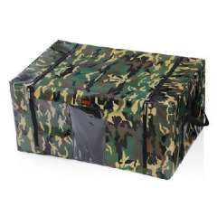 Genuine waterproof and dustproof iron storage box / Cabernet box / storage box | Camouflage 72L | open front
