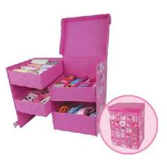 Bear Belle four combinations underwear storage cabinets | pink