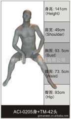 High-grade export model props | M station take the body mold | clothing display dummy | coffee, gold fiberglass paint