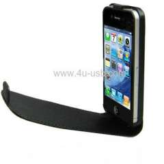 Flip leather case for iPhone 4