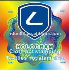 2012 High quality textiles hot stamping
