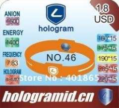 2012 Customized Negative-ions Silicone Bracelets in Brand-lidun Paypal-available