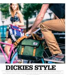 Dickies unisex PU leather messenger bag