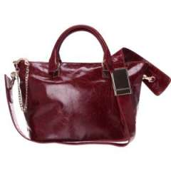 2014 Fashion Burgundy and Designer Wax Oil Vintage\Retro Leather Bags From Guangzhou China (EF1330)