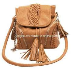PU Handbag with Tassels and Braid Decoration (ZXIY002)