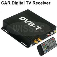 Car Digital TV DVB-T Receiver Box MPEG-2\4 H.264 AVC