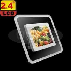 2.4inch LCD Desktop Digital Photo Frame with White Frame Glass