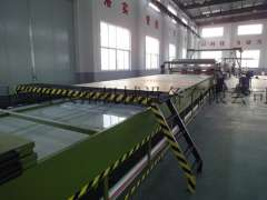 FRP carriage plate production line