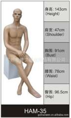 Clothing model props, models systemic male model sitting mold | Men's model model props Guangzhou White Horse