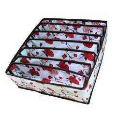 Romantic rose 7 cells bra storage box without cover