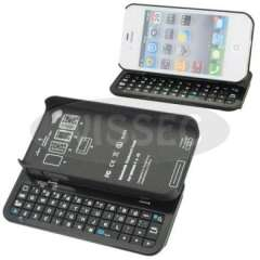 New Bluetooth Sliding QWERTY Keyboard & Hard Back Case Cover for iPhone 4\4S Black