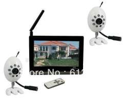 7 inch Wireless AV transmit & Receiver Baby Monitor 2.4GHz 4Channels Security CCTV with Remote Control