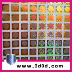 Anti-counterfeiting sticker, hologram sticker, hologram label