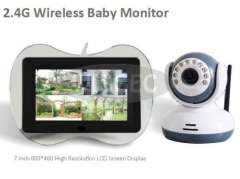 2.4G Wireless Baby Monitor with 7inch 800 x 480 High resolution Monitor Display