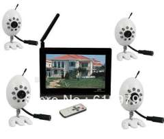 "Transmit & Receiver Wireless Baby Monitor 2.4GHz 1\3inch Chip Security CCTV 7"" Audio-visual"