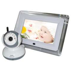 2.4G Wireless Digital Camera Voice Control 7' inch LCD Baby Monitor Night Version