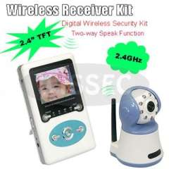 2.4G CCTV Wireless Baby Monitor System Builtin Intercom