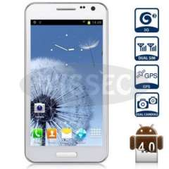 E120L Android 4.0 3G Smartphone with 4.7 inch WVGA Screen Dual SIM MTK6577 Dual Core 1GHz GPS (white)drop shipping