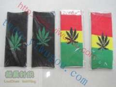 Reggae cannabina motif knitted tricolor armband | Jamaican reggae | cannabis leaf logo motif series jacquard knit Elbow | personality armband