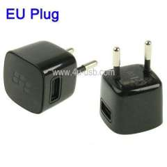 EU Plug Charger for Blackberry, with Logo