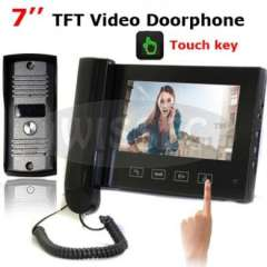 7 inch TFT Monitor LCD Color Video Doorphone intercom with touch key