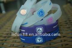 2012 balance energy wristbands in hologram 100%silicone
