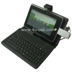 Leather Case built In Keyboard for 7 inch iPad style MID